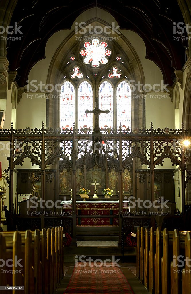 Divine Light Through Church Window royalty-free stock photo