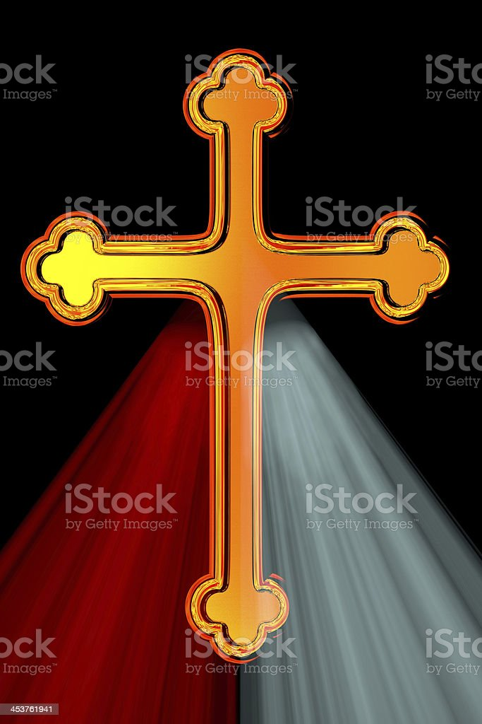 Divine Mercy Cross royalty-free stock photo