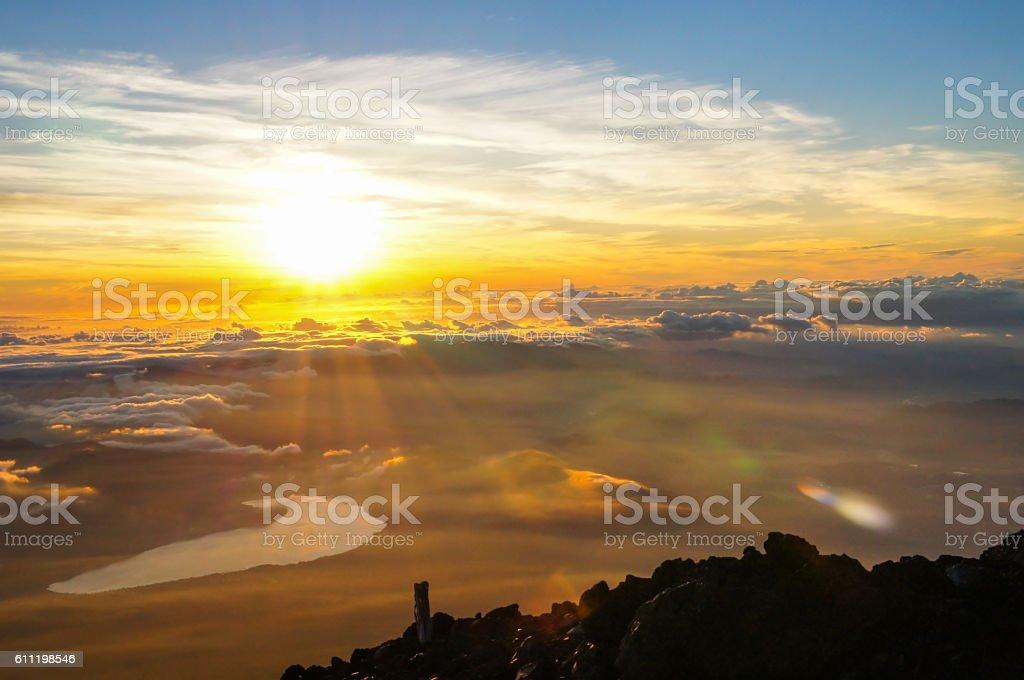 Divine Sunrise, Mount Fuji ストックフォト