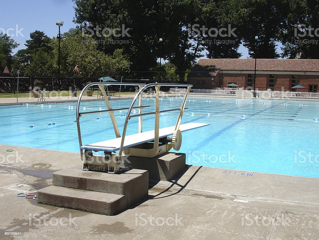 Diving Board At A Swimming Pool Stock Photo - Download Image ...