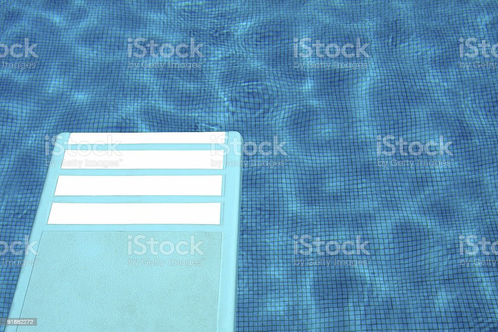 diving board at the pool royalty-free stock photo