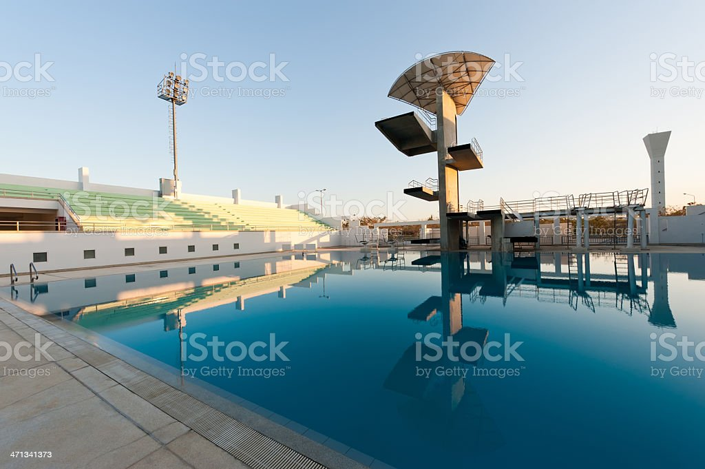 Diving board royalty-free stock photo