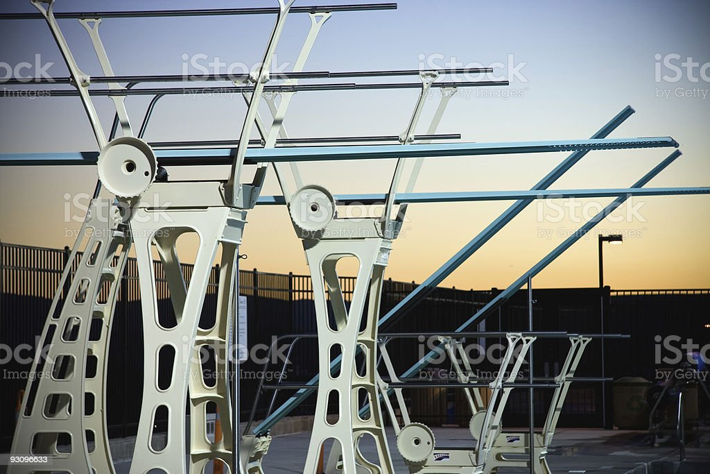Diving Boards At Dusk royalty-free stock photo