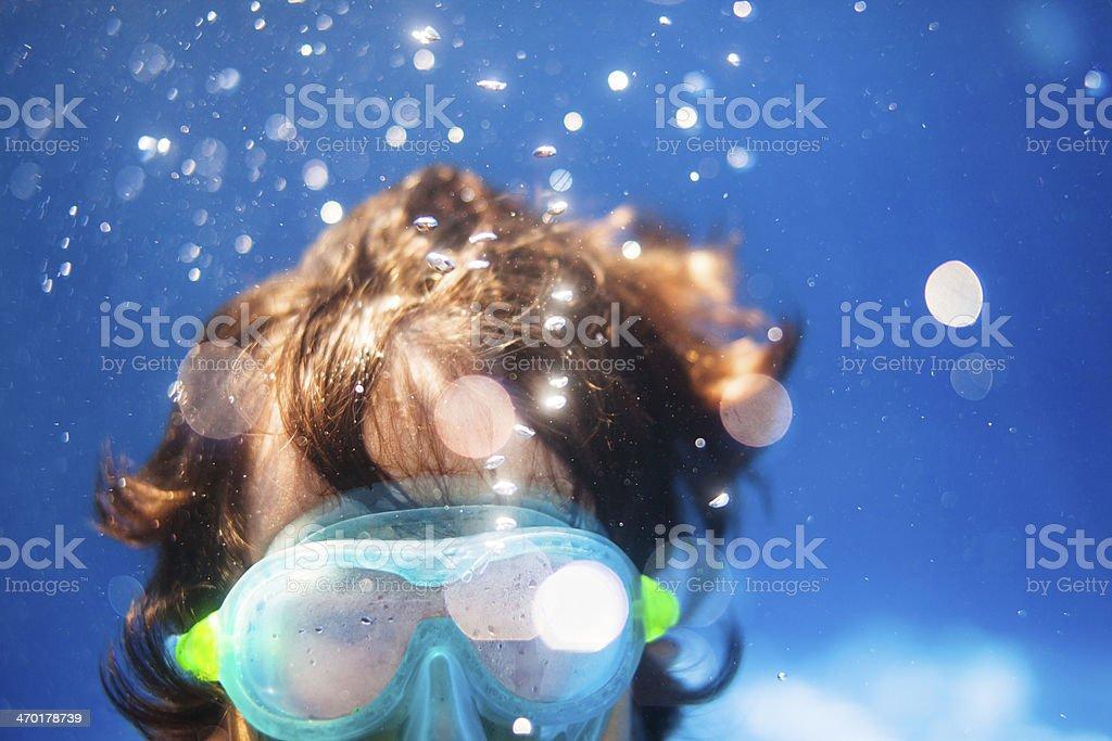 diving boy stock photo