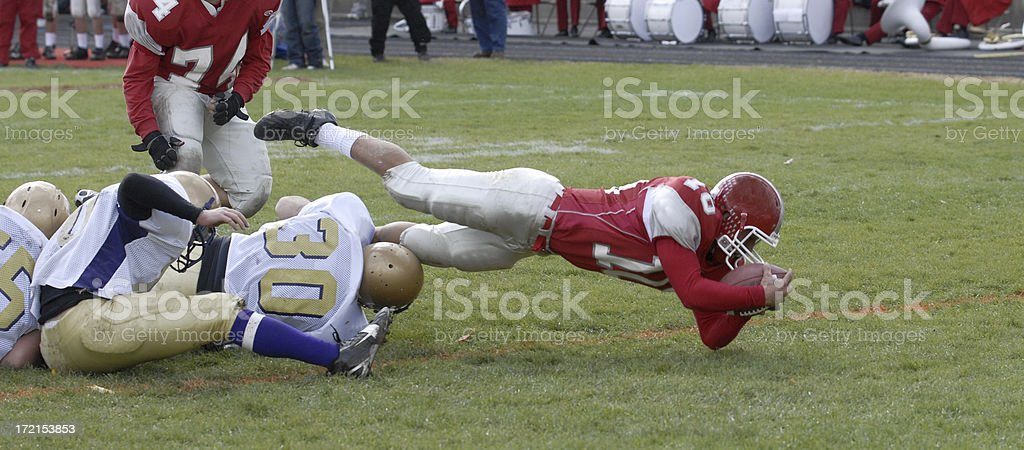 Diving for a Touchdown stock photo