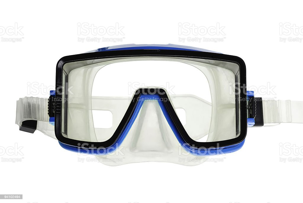Diving goggles on white stock photo