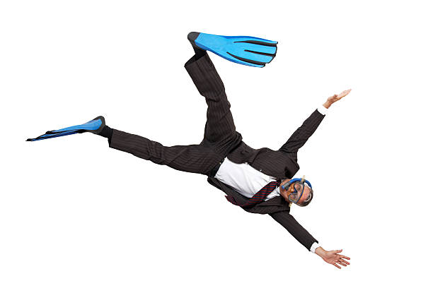 Diving into business stock photo