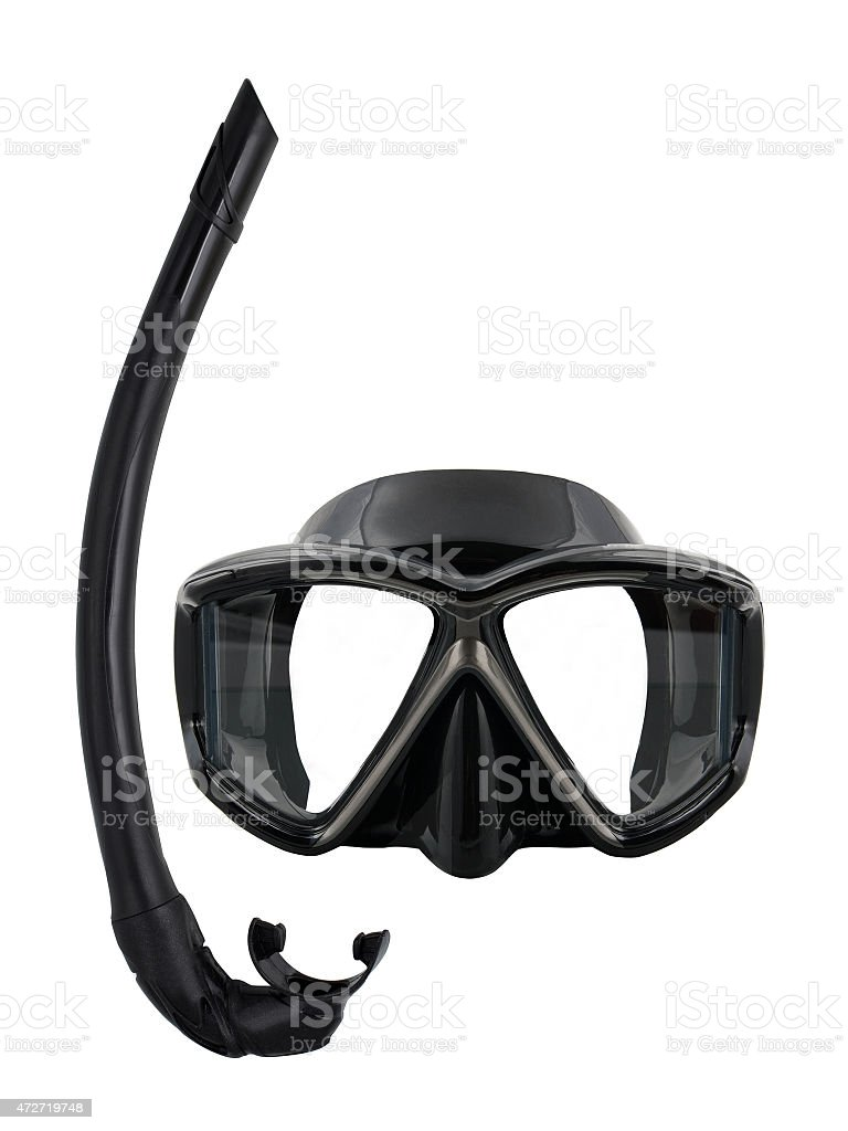 Diving mask and snorkel stock photo