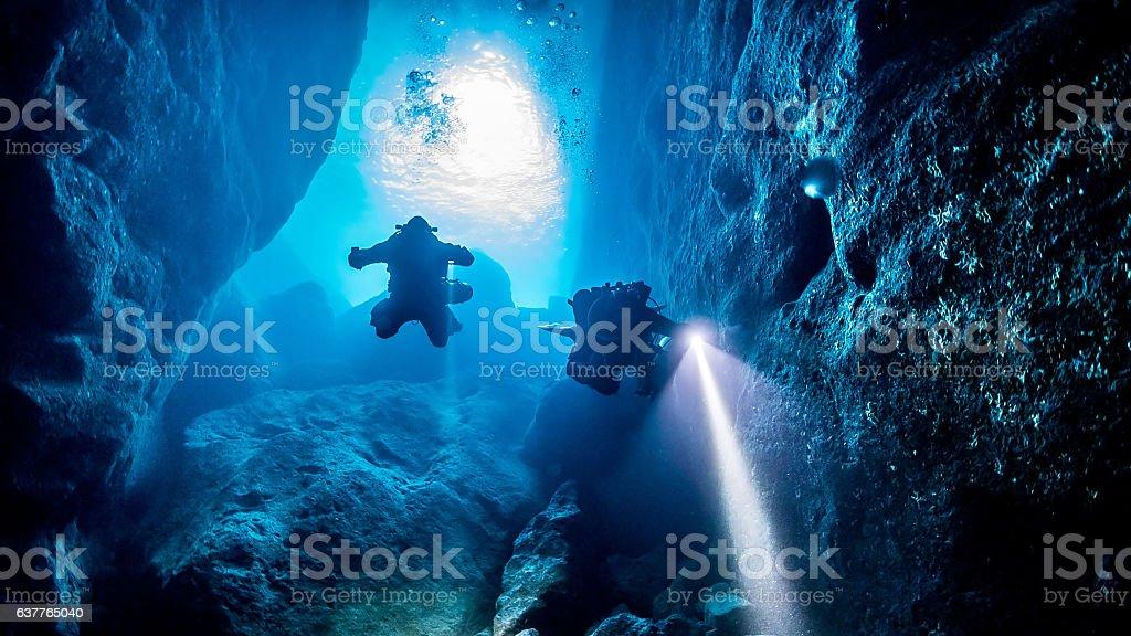 GOZO Diving Lizenzfreies stock-foto