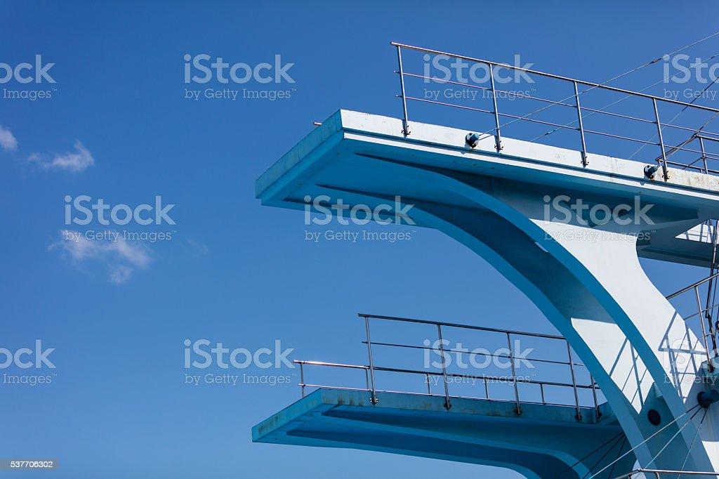 . diving platform stock photo