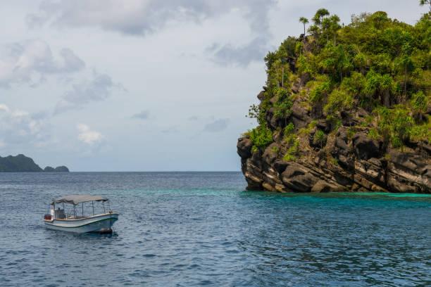 diving resort in the Raja Ampat, Indonesia stock photo