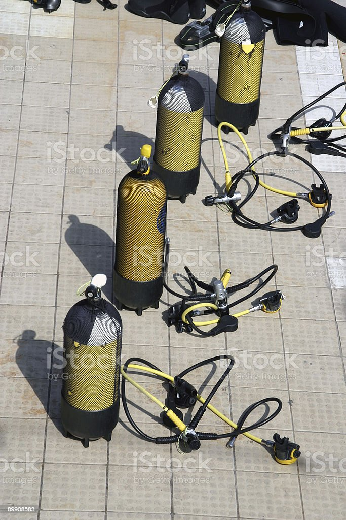 Diving school royalty-free stock photo