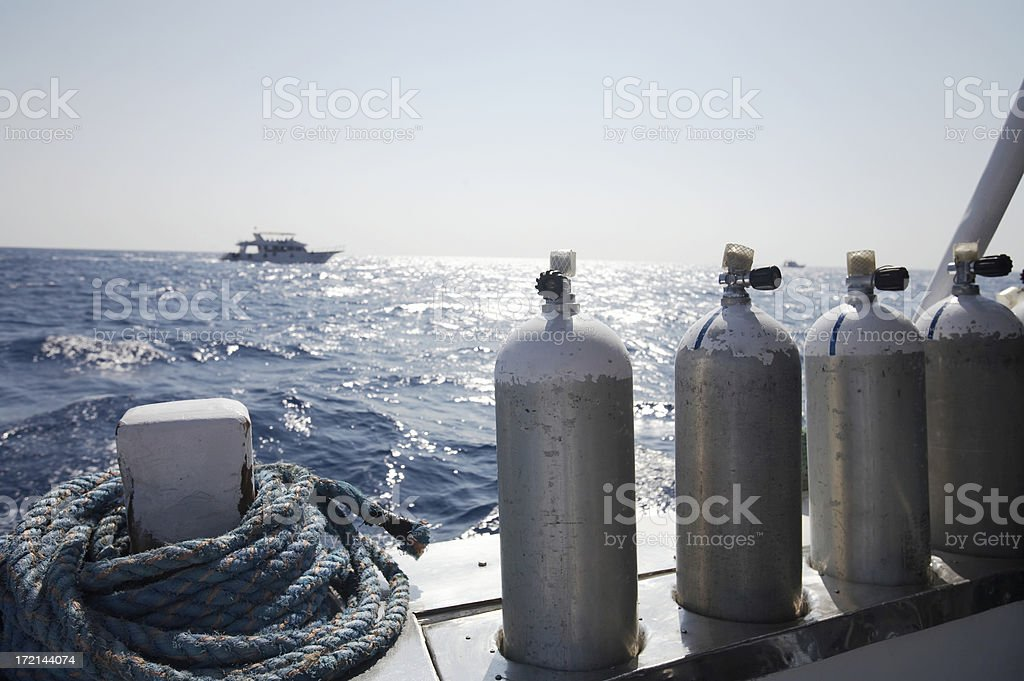 Diving tank stock photo