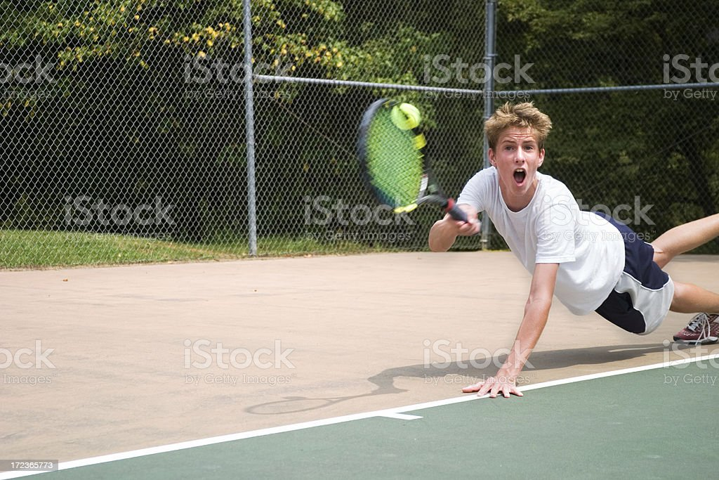 Diving Tennis Player royalty-free stock photo