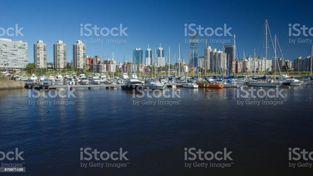 Buceo Yacht club - Montevideo stock photo