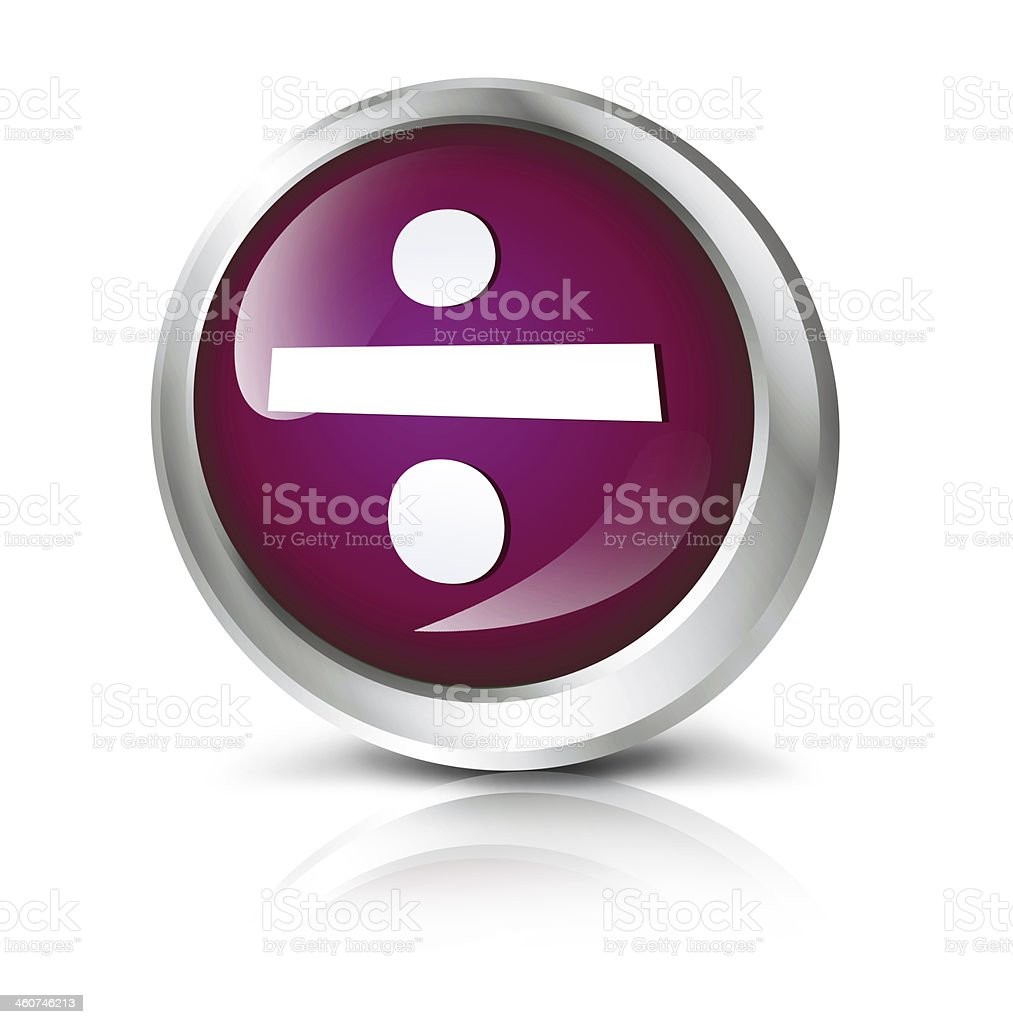 Division icon royalty-free stock photo