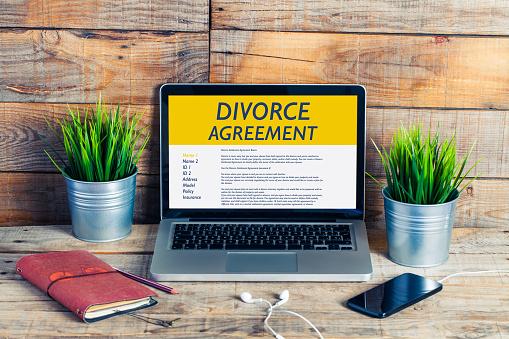 istock Divorce Agreement concept. 694195108