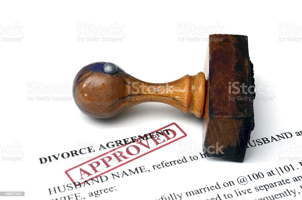 Divorce agrement royalty-free stock photo