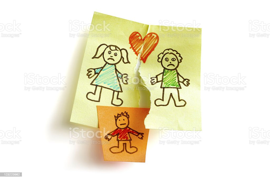 Divorce and child custody royalty-free stock photo