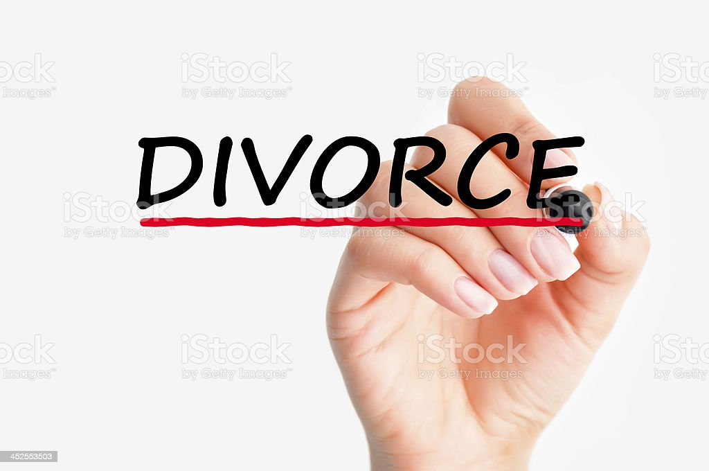 divorce concept royalty-free stock photo