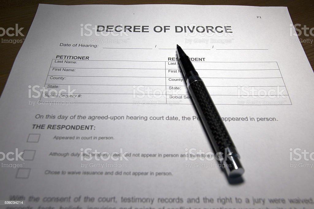 Decreto del Divorcio foto de stock libre de derechos