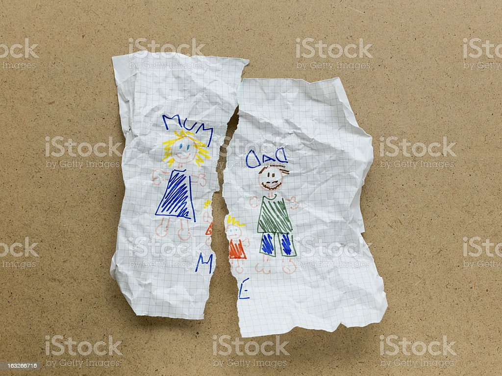 Divorce drawing royalty-free stock photo
