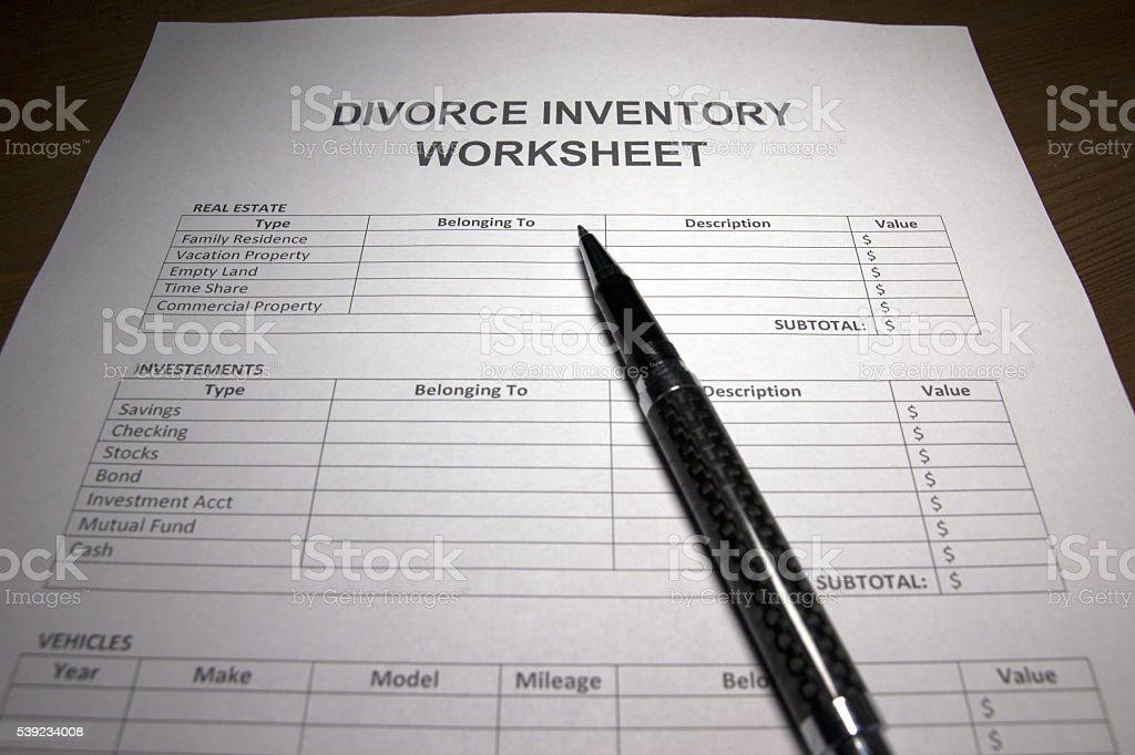 Divorcio domésticos de inventario de material foto de stock libre de derechos