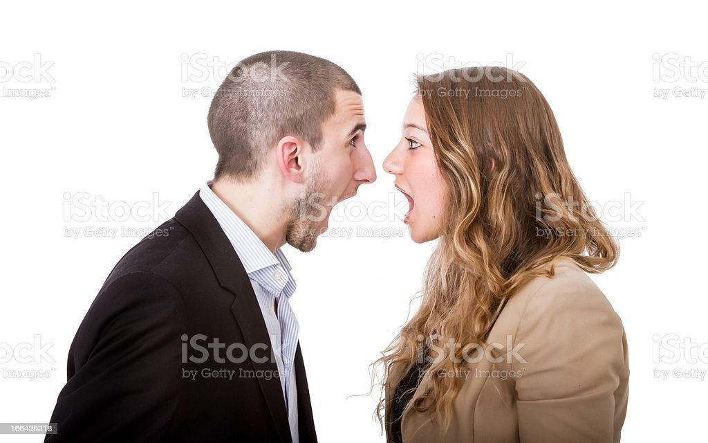 divorce in a couple royalty-free stock photo