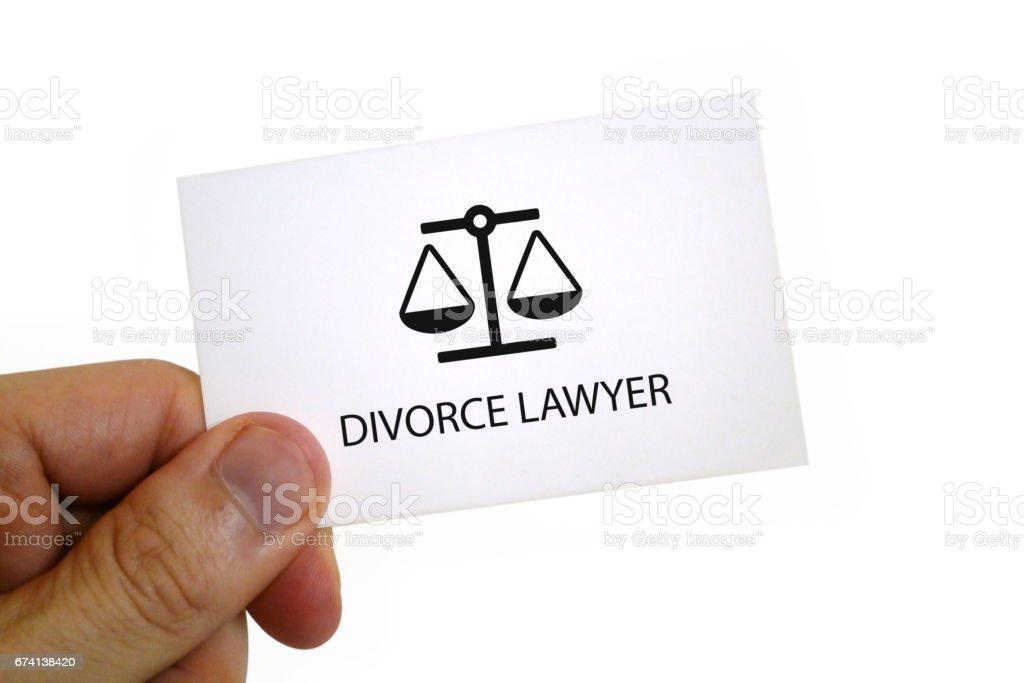 Carte De Visite Avocat Divorce Photo Libre Droits