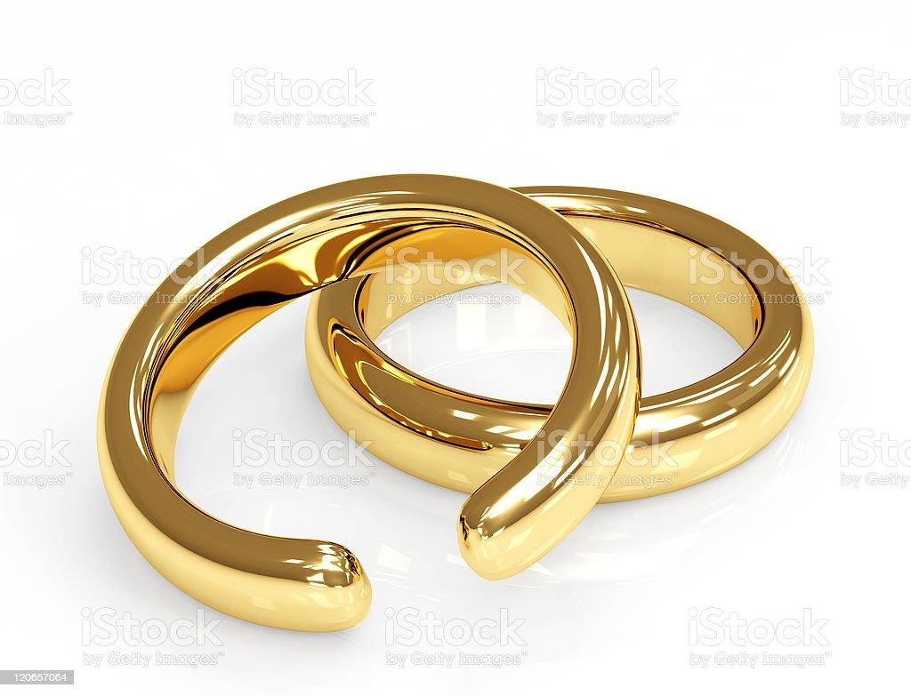 Divorce of a broken golden ring royalty-free stock photo