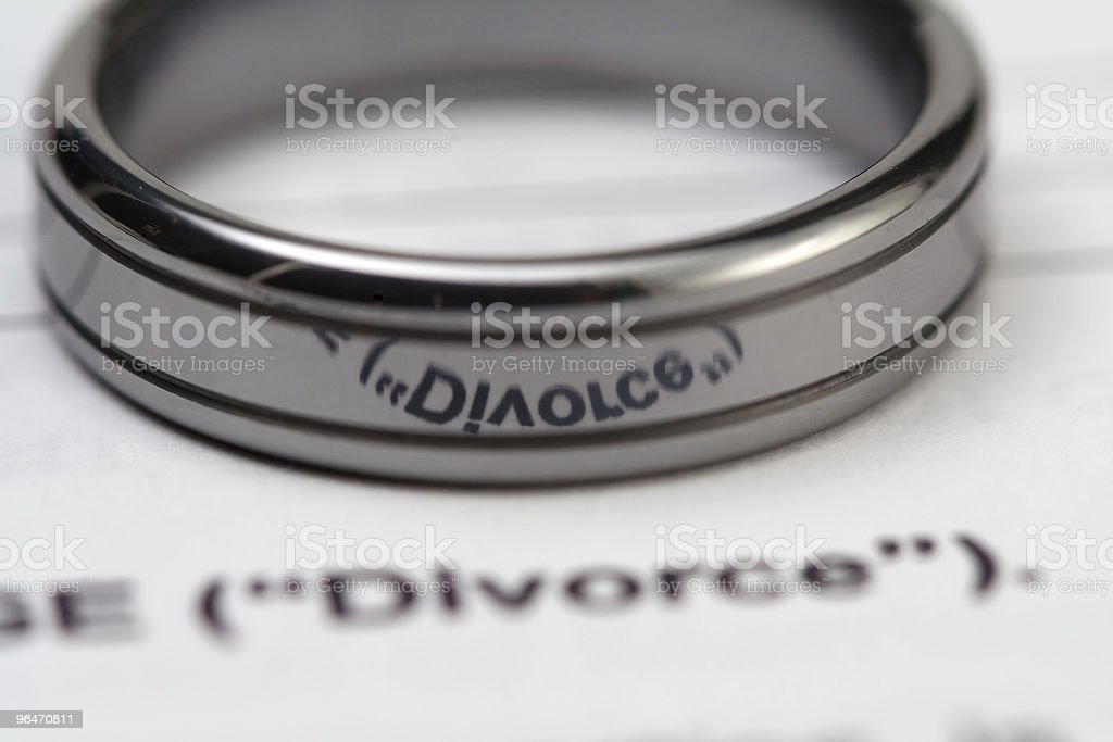 Divorce Reflection in Wedding Ring royalty-free stock photo