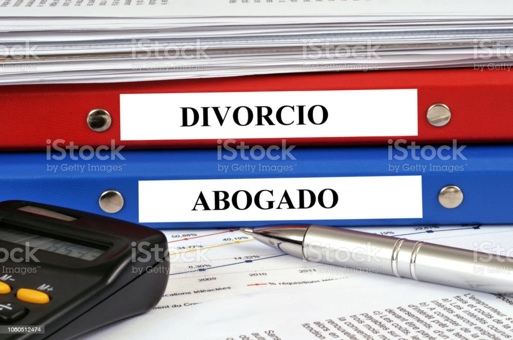 Expediente se divorcia y abogado stock photo