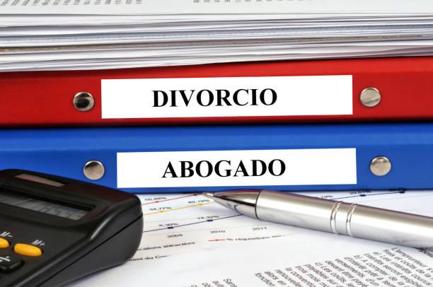 Expediente se divorcia y abogado stock photo