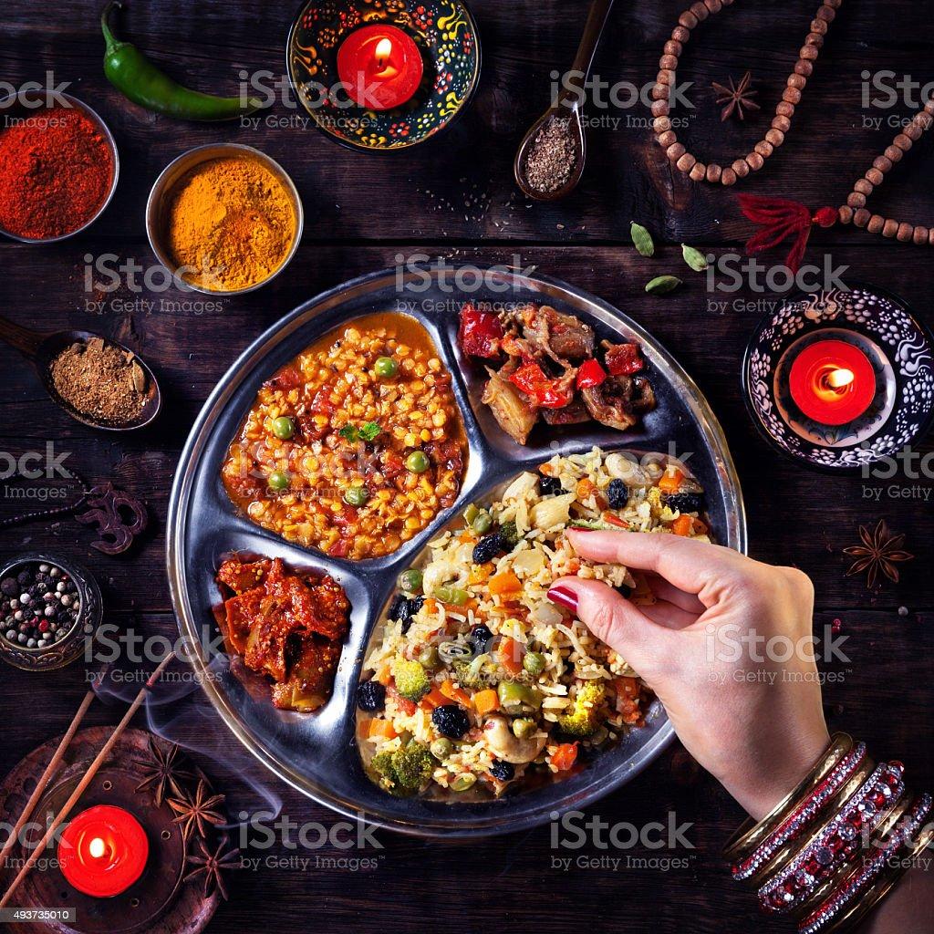 Diwali celebración de comida - foto de stock