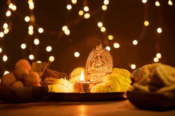 diwali decoration on diwali day - induismo foto e immagini stock