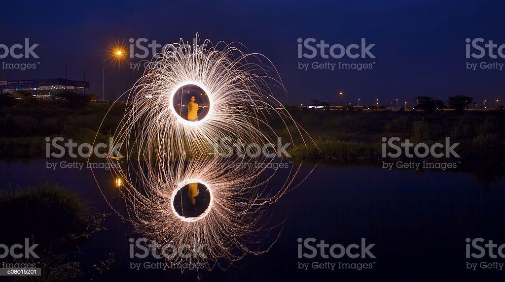 Diwali fogos de artifício na Índia - foto de acervo