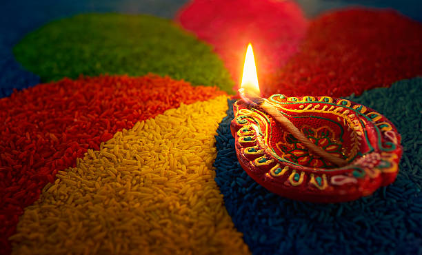 diwali oil lamp - diwali stock pictures, royalty-free photos & images