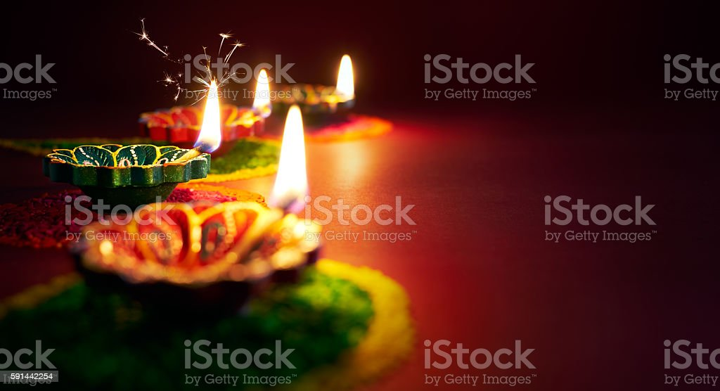 Diwali oil lamp  – Foto