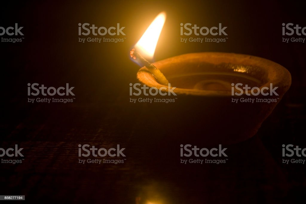 diwali-oil lamp stock photo