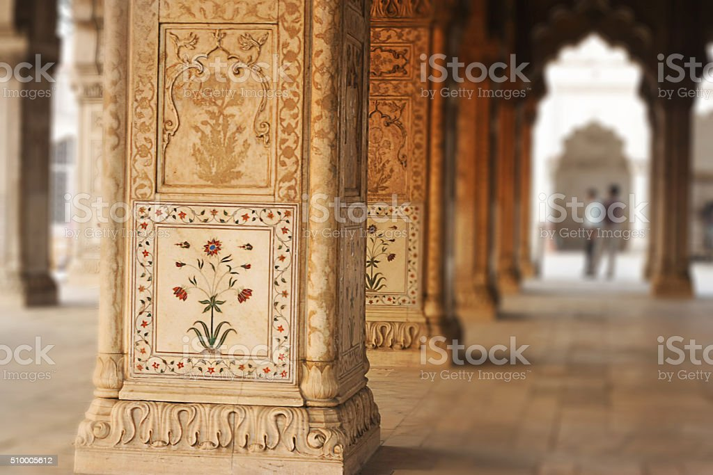 Diwan E Khas Interior Red Fort India Stock Photo - Download