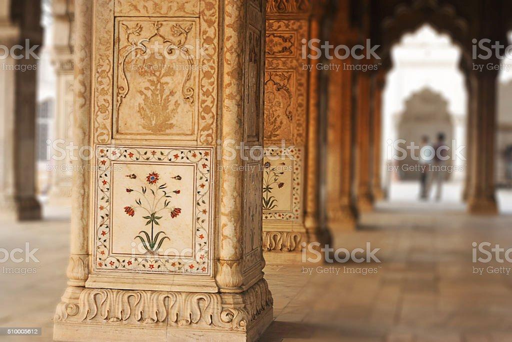Diwan E Khas Interior Red Fort, India stock photo
