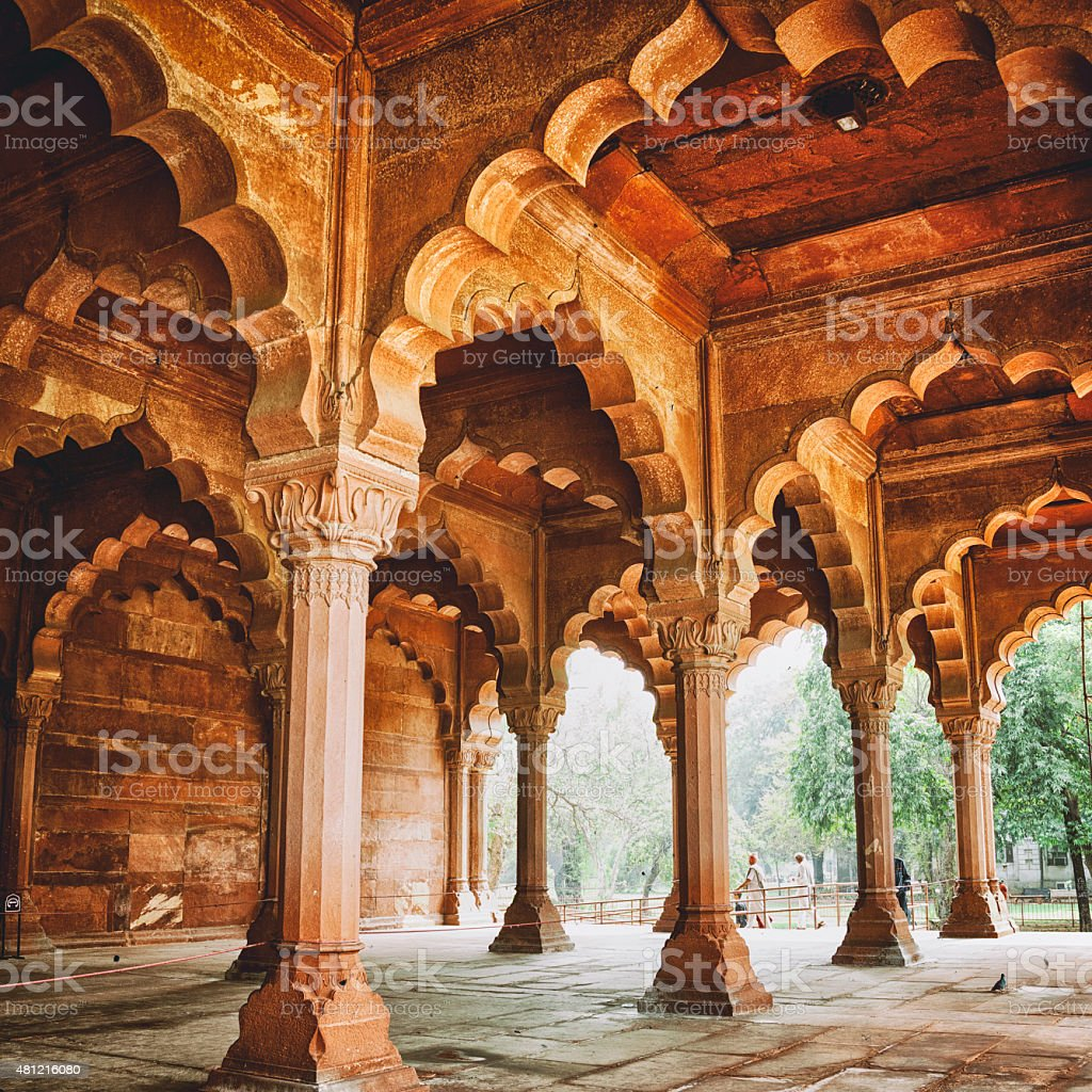Diwan-i-Am at the Red Fort in Delhi, India stock photo