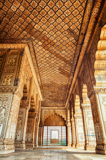 Diwan-i-Khas at the Red Fort in Delhi, India stock photo