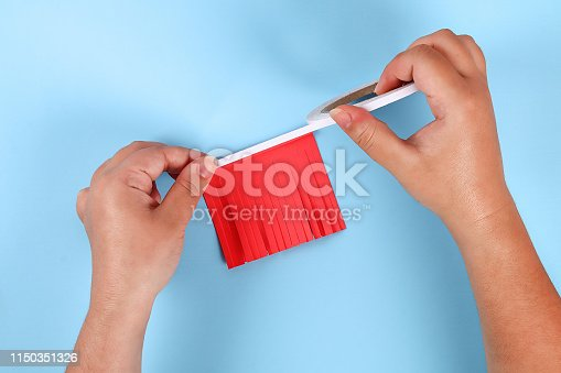 973461098 istock photo Diy 4th of July paper salute color American flag, red, blue, white. idea, decor USA Independence Day 1150351326