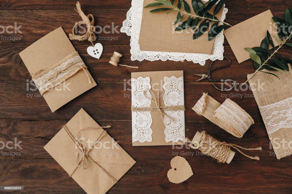 Diy Creatief Idee Handgemaakte Kaart Uitnodiging De