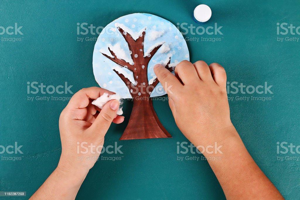 20 Diy paper tree four seasons summer, autumn, winter, spring. Tree 4...