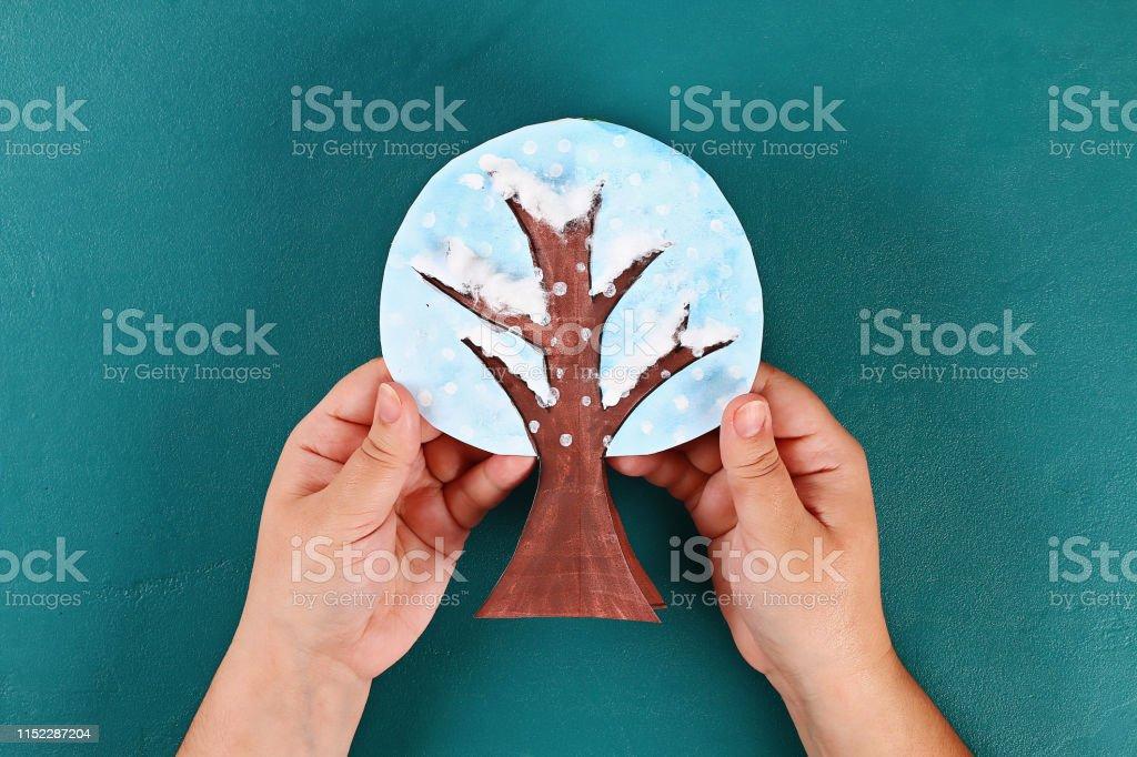 21 Diy paper tree four seasons summer, autumn, winter, spring. Tree 4...