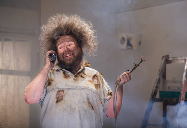 diy phone for help diy disaster man calls for the professionals careless stock pictures, royalty-free photos & images