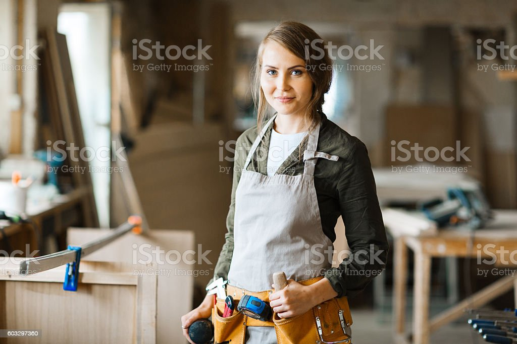 Diy woman stock photo