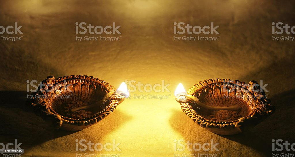Diya - Celebrations of diwali royalty-free stock photo